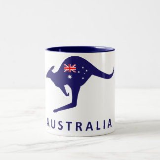 AUSTRALIA KANGAROO FLAG MUG