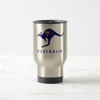 AUSTRALIA KANGAROO FLAG TRAVEL MUG