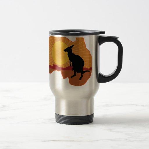 Australia Kangaroo Mugs