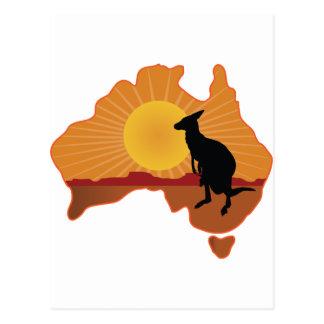 Australia Kangaroo Postcard