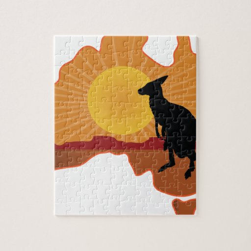 Australia Kangaroo Puzzle