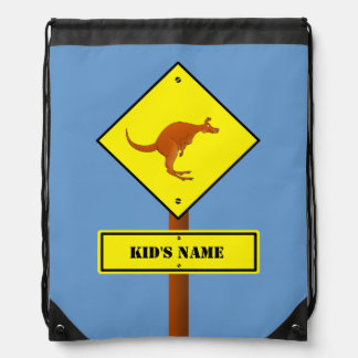 Australia kangaroo sign drawstring bag