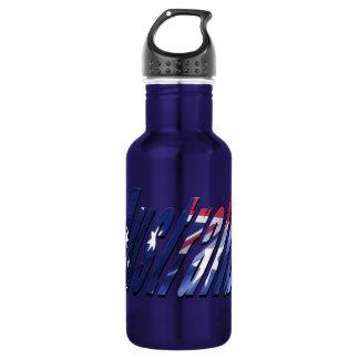 Australia Logo Blue Aluminum Water Bottle 532 Ml Water Bottle