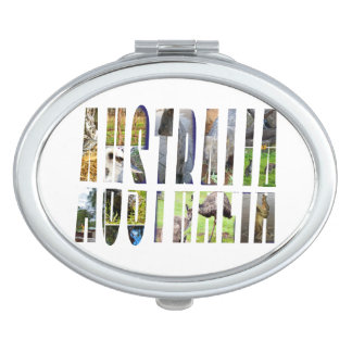 Australia Logo Made With Aussie Wildlife, Compact Mirror