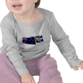 Australia Lord Howe Island Waving Flags T Shirts