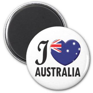 Australia Love 6 Cm Round Magnet