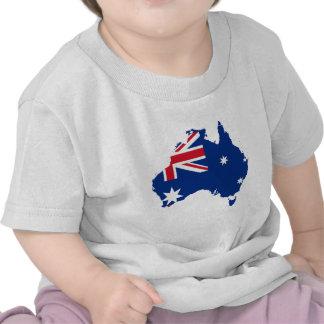 Australia Map and Flag Tee Shirts