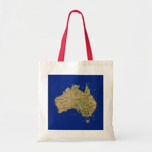 Australia Map Bag