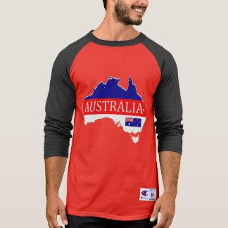 Australia Map Designer Name Brand T-Shirt