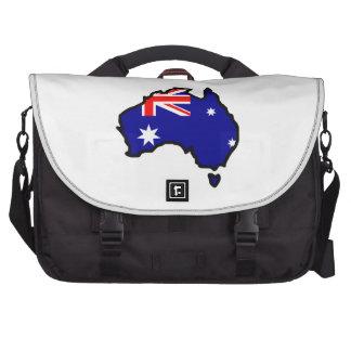 AUSTRALIA MAP FLAG COMMUTER BAGS