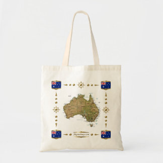 Australia Map + Flags Bag