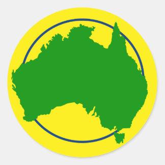 Australia Map Silhouette Classic Round Sticker