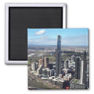 Australia: Melbourne Cityscape Square Magnet
