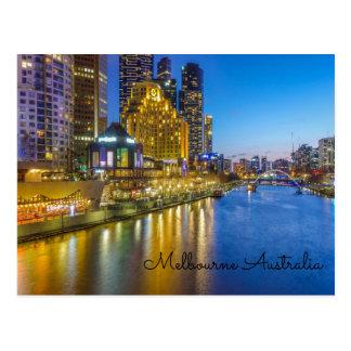 Australia Melbourne yarra river Postcard