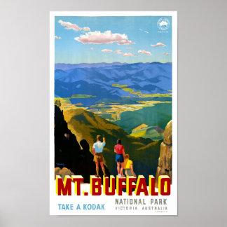 Australia Mt. Buffalo Vintage Travel Poster