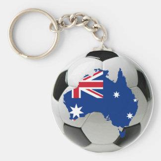 Australia national team basic round button key ring