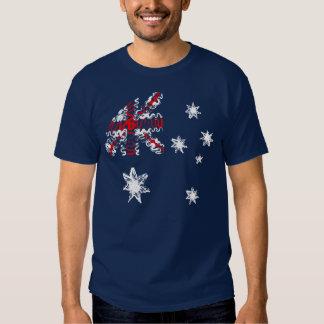 Australia on Blue Tee Shirt