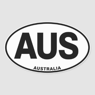 Australia Oval International Identity Letters Oval Sticker