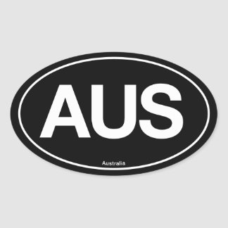 Australia Oval Oval Sticker