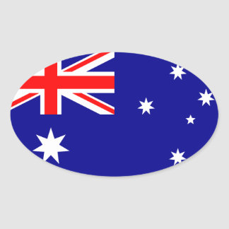 australia oval sticker