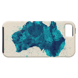 Australia Paint Splashes Map iPhone 5/5S Covers