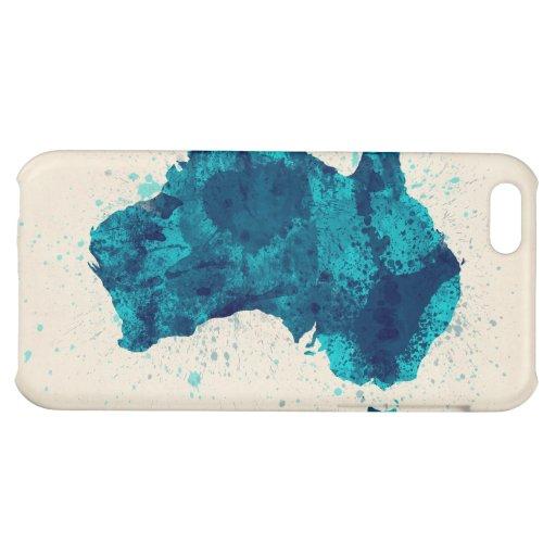 Australia Paint Splashes Map iPhone 5C Cover
