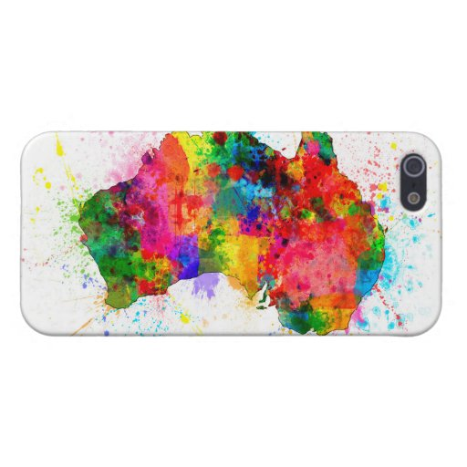 Australia Paint Splashes Map iPhone 5/5S Cases