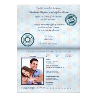 Australia Passport (rendered) Wedding Invitation