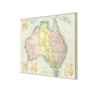 Australia political stretched canvas prints