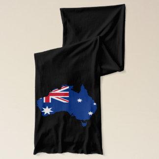 Australia Pride Flag Black Jersey Scarf