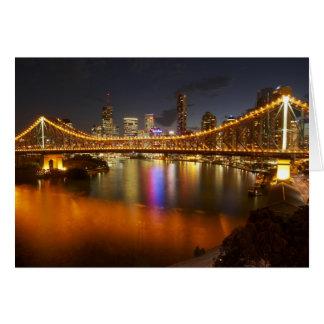 Australia, Queensland, Brisbane, Story Bridge, 2 Greeting Card