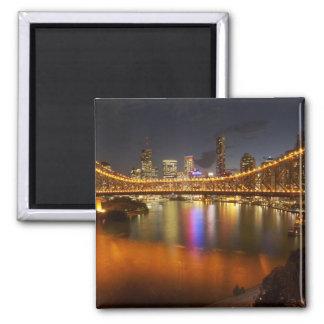 Australia, Queensland, Brisbane, Story Bridge, 2 Square Magnet