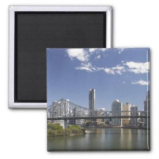 Australia, Queensland, Brisbane, Story Bridge, Square Magnet