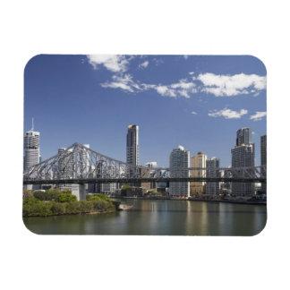 Australia, Queensland, Brisbane, Story Bridge, Rectangular Photo Magnet
