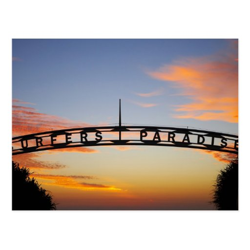 Australia, Queensland, Gold Coast, Sunrise, Postcard