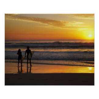 Australia, Queensland, Gold Coast, Surfers at Poster