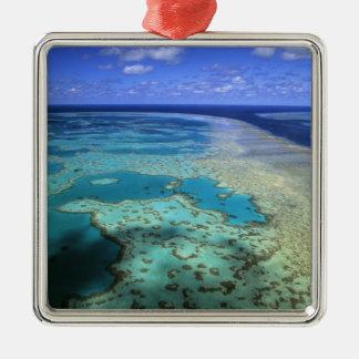 Australia - Queensland - Great Barrier Reef. 4 Metal Ornament