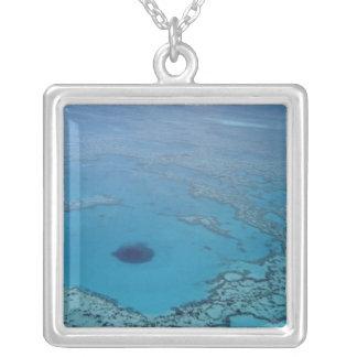 Australia, Queensland. Great Barrier Reef Square Pendant Necklace
