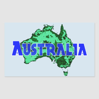 Australia Rectangular Sticker