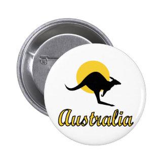 Australia Red earth Design 6 Cm Round Badge