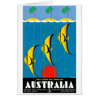 Australia Restored Vintage Travel Poster Card