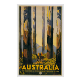 Australia Retro Travel Poster