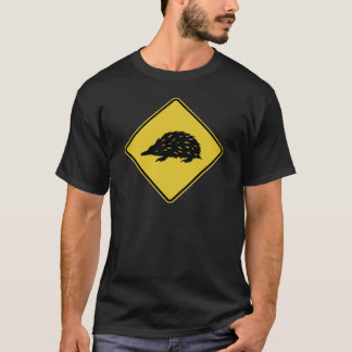 Australia Road Sign - Echidna T-Shirt