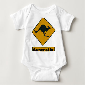 Australia Road Sign - Kangaroo Crossing Baby Bodysuit