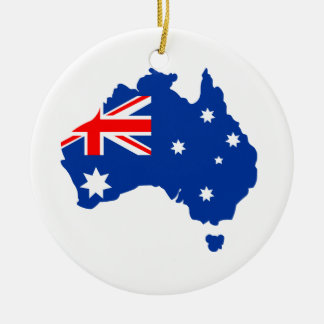 Australia Round Ceramic Decoration