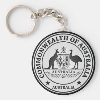 Australia Round Emblem Key Ring