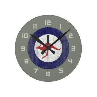 Australia roundel round clocks