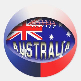Australia Rugby Ball Classic Round Sticker