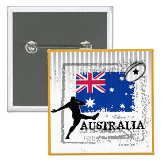 Australia Rugby Button
