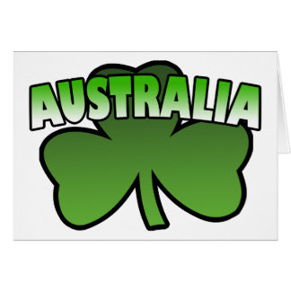Australia Shamrock Greeting Card